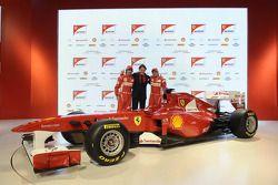 Fernando Alonso, Scuderia Ferrari; Lapo Elkann; Felipe Massa, Scuderia Ferrari