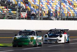 #44 Magnus Racing Porsche GT3: Marco Holzer, Richard Lietz, John Potter, Craig Stanton, #48 Paul Mil