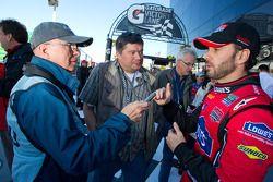 Rolex 24 At Daytona Champions photo: Jimmie Johnson interviewed by Motorsport.com's Joe Jennings