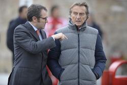 Stefano Domenicali Ferrari Direktörüü ve Luca di Montezemolo, Scuderia Ferrari, FIAT Yönetim Kurulu