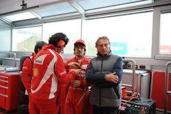 Felipe Massa, Scuderia Ferrari and Luca di Montezemolo, Scuderia Ferrari, FIAT Chairman and President of Ferrari