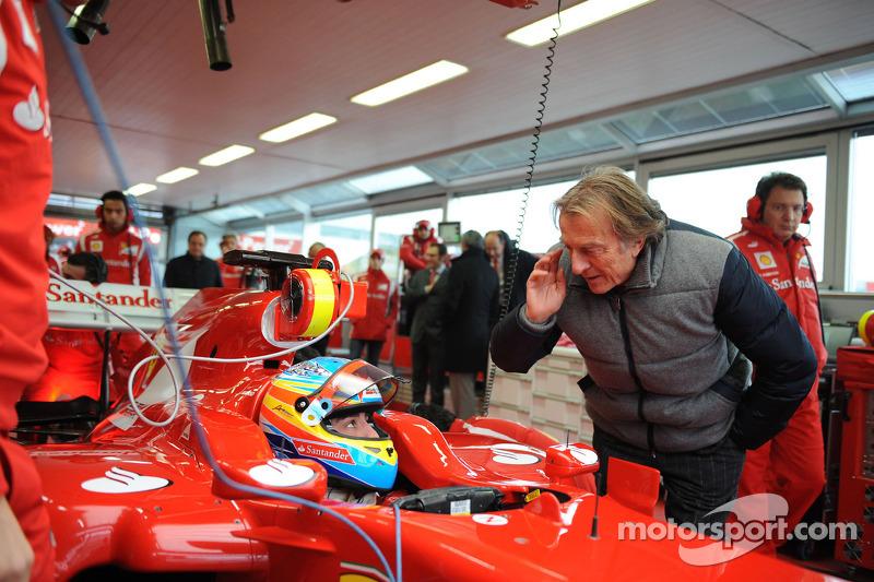 Fernando Alonso, Scuderia Ferrari y Luca di Montezemolo