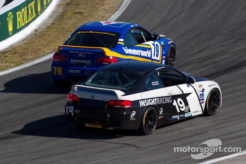 #79 BimmerWorld Racing BMW M3 Coupe: James Clay, Seth Thomas, #19 Insight Racing BMW M3 Coupe: Paul