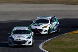 #27 Freedom Autosport Mazda Speed 3: Michael Cooper, Brad Rampelberg, #28 Freedom Autosport Mazda Speed 3: Nick Igdalsky, Bruce Ledoux