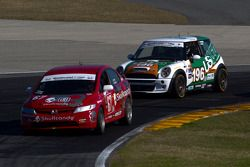 #67 CA Sport Honda Civic SI: Vesko Kozarov, Lara Tallman, #196 RSR Motorsports Mini Cooper S: Ron Farmer, Jason Hart