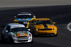 #196 RSR Motorsports Mini Cooper S: Ron Farmer, Jason Hart, #15 Multimatic Motorsports Mustang Boss
