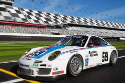 Cérémonie d'ouverture des Speedweeks 2011 : #59 Brumos Racing Porsche GT3: Andrew Davis, Hurley Haywood, Leh Keen, Marc Lieb