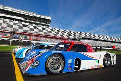 Speedweeks 2011 lancering: #9 Action Express Racing Porsche Riley: Joao Barbosa, Terry Borcheller, C