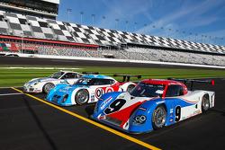 Cérémonie d'ouverture de la Speedweeks 2011 : #59 Brumos Racing Porsche GT3: Andrew Davis, Hurley Ha
