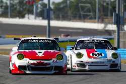 #22 Bullet Racing Porsche GT3: Eric Lux, Darryl O'Young, James Walker, Brian Wong, #59 Brumos Racing Porsche GT3: Andrew Davis, Hurley Haywood, Leh Keen, Marc Lieb