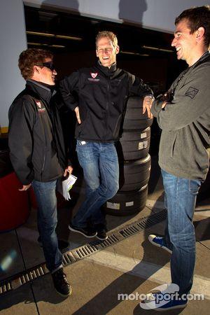 Patrick Long, Jörg Bergmeister and Oliver Gavin