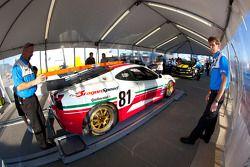 #81 DragonSpeed Ferrari 430 Challenge at technical inspection