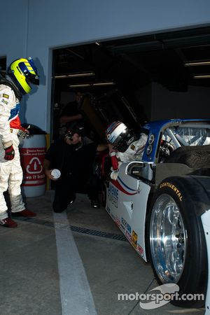 Driver change practice at #5 Action Express Racing Porsche Riley