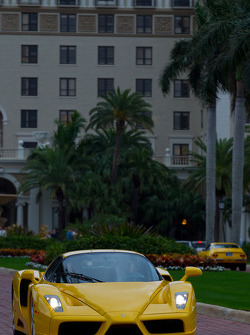 A Ferrari Enzo heads to the streets of West Palm Beach