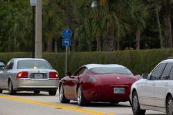 Une Ferrari 575 GTZ Zagatodans les rues de West Palm Beach