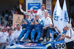 Podium: car category third place Carlos Sainz and Lucas Cruz Senra