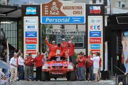 Podium : 8e place pourla catégorie voitures, Christian Lavieille et Jean-Michel Polato