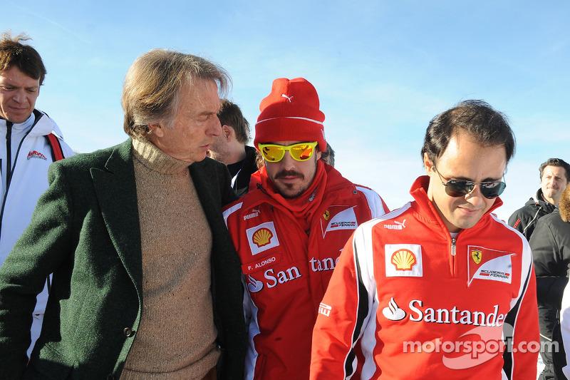 Luca di Montezemolo, Fernando Alonso, Felipe Massa