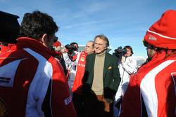 Giancarlo Fisichella, Luca Colajanni, Luca di Montezemolo, Fernando Alonso