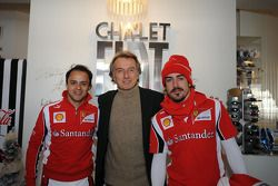Felipe Massa, Luca di Montezemolo, Fernando Alonso