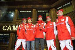 Giancarlo Fisichella, Marc Gene, piloto de prueba Scuderia Ferrari, Jules Bianchi, piloto de prueba