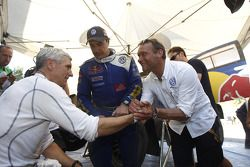 Mark Miller, Carlos Sainz et Kris Nissen
