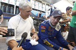 Mark Miller y Carlos Sainz