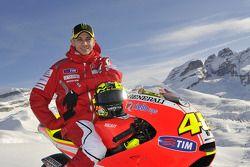 Valentino Rossi, Ducati, op de voorstelling Ducati Desmosedici GP11