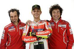 Vittoriano Guareschi, piloto de pruebar Ducati, Valentino Rossi, Ducati