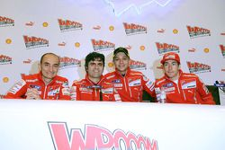 Valentino Rossi, Ducati, Nicky Hayden, Ducati at the Ducati Desmosedici GP11 presentation