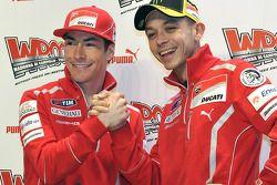 Nicky Hayden, Ducati e Valentino Rossi, Ducati