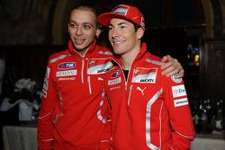 Valentino Rossi, Ducati, y Nicky Hayden, Ducati