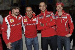 Fernando Alonso, Scuderia Ferrari, Felipe Massa, Scuderia Ferrari, Valentino Rossi, Ducati, Nicky Hayden, Ducati