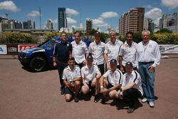 Pilotos de Volkswagen Motorsport, Nasser Al Attiyah, Carlos Sainz, Giniel De Villiers y Mark Miller,
