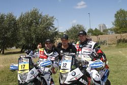 #17 BMW: Paulo Goncalves, #32 BMW: Pedro Bianchi Prata