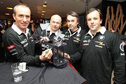 Présentation Delta Q BMW X-Raid : Stéphane Peterhansel et Jean-Paul Cottret, Ricardo Leal dos Santos et Paulo Fiuza