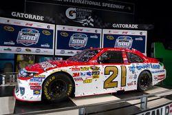 Champion's breakfast: de 2011 Daytona 500 winnende Wood Brothers Racing Ford van Trevor Bayne in de