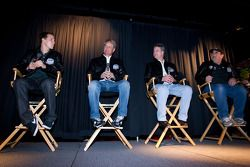 Champion's breakfast: 2011 Daytona 500 winner Trevor Bayne, Wood Brothers Racing Ford with Donnie Wingo, Eddie Wood and Len Wood