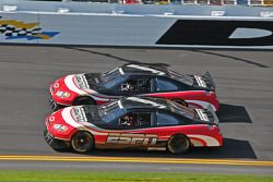 Rusty Wallace and Dale Jarrett in the ESPN cars