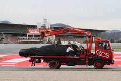 Michael Schumacher, Mercedes GP Petronas F1 Team, parado en pista