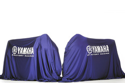 The 2011 Yamaha YZR-M1 under veils