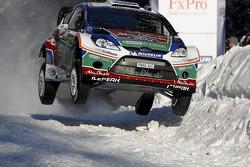 Mikko Hirvonen et Jarmo Lehtinen, Ford Fiesta RS WRC, Ford Abu Dhabi World Rally Team