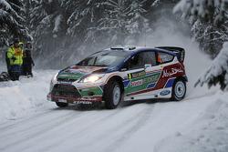 Jari-Matti Latvala et Miikka Anttila, Ford Fiesta RS WRC, Ford Abu Dhabi World Rally Team