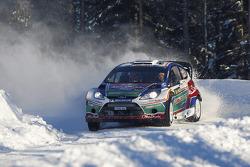 Mikko Hirvonen et Jarmo Lehtinen, Ford Fiesta RS WRC, Ford Abu Dhabi World Rally Team