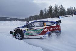 Mikko Hirvonen et Jarmo Lehtinen, Ford Fiesta RS WRC, BP Ford Abu Dhabi World Rally Team