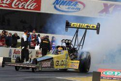 Morgan Lucas dans son dragster GEICO Powersports/Lucas Oil Top Fuel