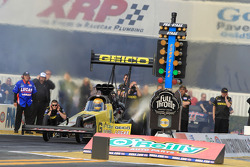 Morgan Lucas in his GEICO Powersports/Lucas Oil Top Fuel Dragster