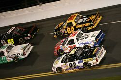 Clay Rogers, Chevrolet; Todd Bodine, Germain Racing Toyota and Brandon Gaughan, Germain Toyota