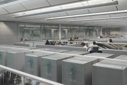 La zone des bureaux