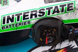 Victory lane: shredded tire